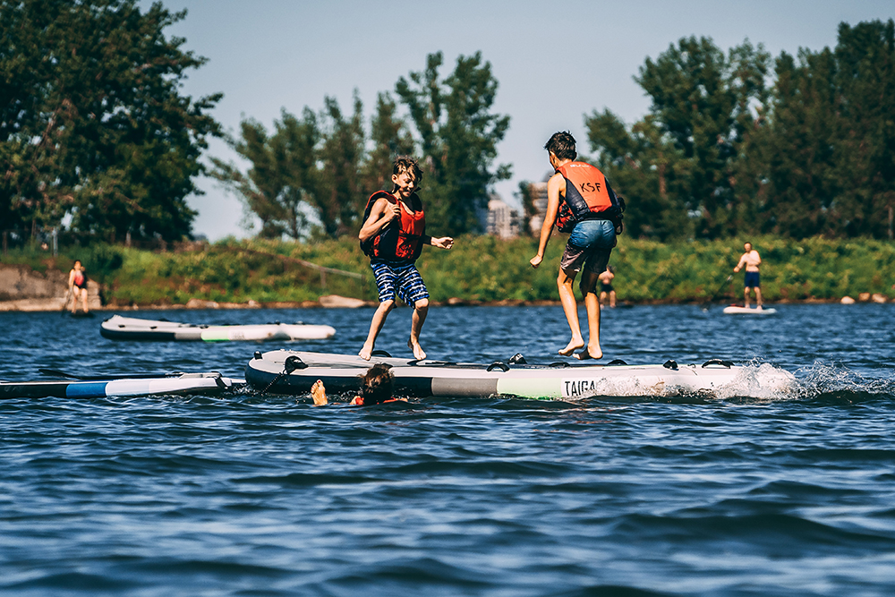 Camp de jour KSF - Nouveau à LaSalle - SURF, SUP, KAYAKKSF Montréal - KAYAK - Cours, location, boutique, camp de jour - Courses, rentals, shop, summer camp